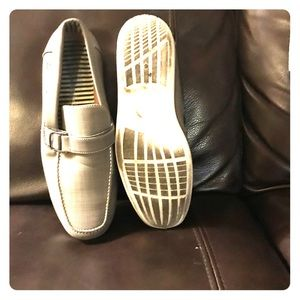 Grey slip-on loafers